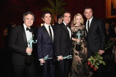 Pin for Later: All the Best Pictures From the SAG Awards Afterparties!  Pictured: Liev Schreiber, Rachel McAdams, Mark Ruffalo, Billy Crudup, and Brian d'Arcy James