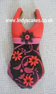Decorated swimsuit cookie by Lindy Smith by Lindy's cakes, via Flickr