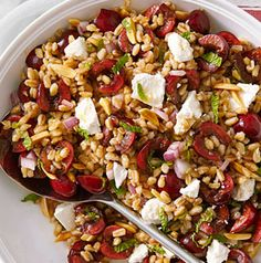 Cherry-Almond Farro Salad is one our dietitians' favorites. Feel free to swap out the farro with your favorite ancient grain.