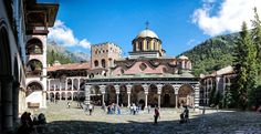The Monastery of Saint Ivan of Rila is the largest and most famous Eastern Orthodox monastery in Bulgaria. (panorama)