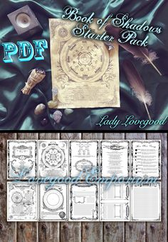 I was really inspired to create this pack, thanks to many of the fun pages I created for my shop when I first began Lovegood Emporium. There were quite a few,