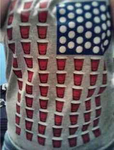 Red Solo Cup & Ping Pong Ball Flag Shirt!!
