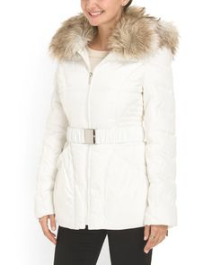 Faux Fur Hood Down Coat