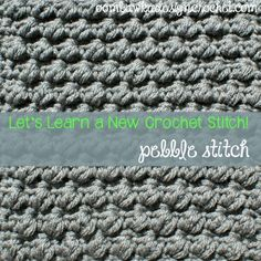 Here is the 31st stitch pattern to make your dishcloth with :) Try the Pretty Pebbles stitch and make an 8x8 inch square dishcloth • Oombawka Design Crochet - https://oombawkadesigncrochet.com/2014/10/pretty-pebbles-8x8-inch-square.html