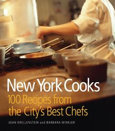 New York Cooks: 100 Recipes from the City's Best Chefs by Barbara Winkler http://www.amazon.com/dp/1933027789/ref=cm_sw_r_pi_dp_TTqLtb170AQV5PC4