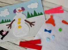 Make a snowman while
