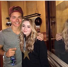 Sabrina Carpenter and Peyton Meyer