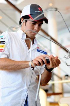 Formula One World Championship, Rd10, Sergio Perez, German Grand Prix, Preparations, Hockenheim, Germany, Thursday, 19 July 2012  © Sutton Images.