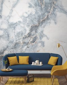 Marble Wallpaper, Our Favorite New Home Décor Trend #RueNow