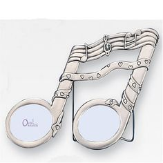 """Amazon.com - 2"""" x 1.5"""" Musical Note Pewter Picture Frame - Single Frames"""
