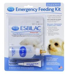 PetAg Esbilac Emergency Feeding Kit Bene-Bac Complete Food Source Supplements