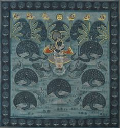 Pichwai Traditional art by artist Pichwai Art | ArtZolo.com Pichwai Paintings, Peacock Painting, Canvas Art, Canvas Prints, Buy Art Online, Selling Art, Tribal Art, Types Of Art, Indian Art