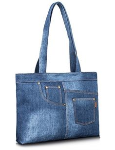 Denim Bags From Jeans, Denim Tote Bags, Denim Purse, Bag Women, Denim Crafts, Diy Handbag, Carry All Bag, Fabric Bags, Canvas Shoulder Bag
