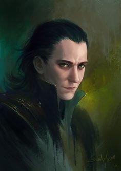 "Tom Hiddleston ""Loki"" fan art From http://sulamoon.deviantart.com/art/Loki-Sketch-584875312"