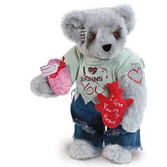 Zombie Love Bear from Vermont Teddy Bear Teddy Bear Factory, Vermont Teddy Bears, Best Zombie, Zombie Dolls, Monster Prom, Bear Valentines, Weird Gifts, We Bear, Company Gifts