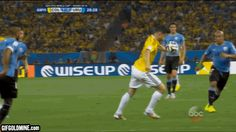 Quantity and quality, James Rodriguez delivers it all. The Colombia dynamo added to his World Cup goal tally with a sublime strike against Uruguay. Ronaldo Soccer, Cristiano Ronaldo Lionel Messi, Soccer Gifs, Soccer Quotes, James Rodriguez Goal, Barcelona Soccer, Fc Barcelona, Football Fever, Football Gif