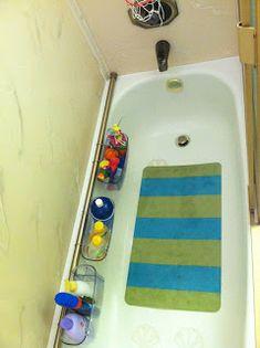 Bath room shower storage diy curtain rods 24 New ideas Baby Room Storage, Shower Storage, Kids Storage, Storage Ideas, Bathtub Storage, Storage Tubs, Craft Storage, Storage Baskets, Kitchen Storage