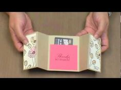 Looking for a beautiful gift card holder? In this video you will learn how to make a gatefold card that doubles as the perfect gift card holder. Visit to http://www.TechniqueTuesday.com gallery for more specifics on the dimensions of this card.