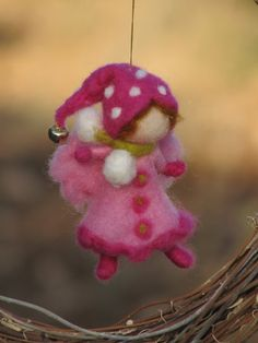 Needle felted Christmas fairy ornament Waldorf by Made4uByMagic