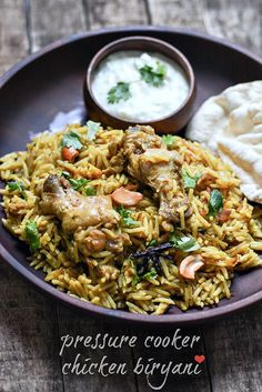 Chicken biryani recipe pressure cooker method. Learn how to make easy chicken biryani with coconut milk in a pressure cooker with step by step pictures.