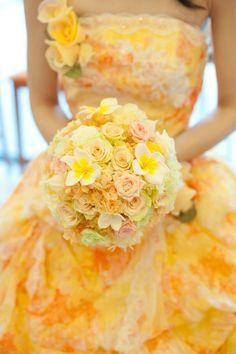 新郎新婦様からのメール お義姉さまから妹様へ 群馬まで 花冠と花鎖 : 一会 ウエディングの花