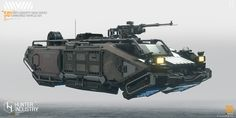 Anti-gravity high-speed armored vehicle concept, hunter liang