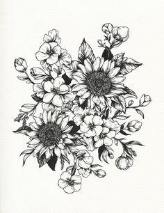 botanical illustration tattoo   Tumblr