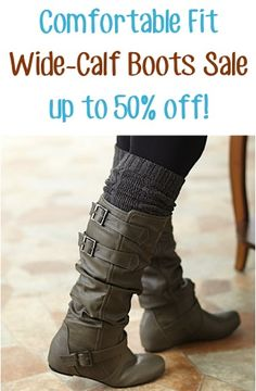 Comfortable Fit Wide-Calf Boots Sale: up to 50% off! Would like these in a camel color!