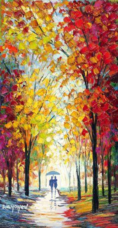 "Diy canvas art 488922103287320411 - ""Bright Sun Peeking Through"" by Slava Ilyayev – Park West Gallery Source by parkwestgallery Bright Paintings, Cool Paintings, Landscape Art, Landscape Paintings, Watercolor Landscape, Acrylic Painting Canvas, Canvas Art, Diy Canvas, Painting Art"