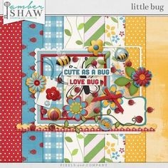 Little Bug mini kit freebie from Amber Shaw Free Digital Scrapbooking, Digital Papers, Digital Art, Pocket Cards, Kit, Love Bugs, Printable Paper, Free Printable, Free Paper