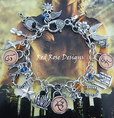 the mortal instruments bracelets  | THE Mortal Instruments Inspired Charm Bracelet THE Infernal Devices ...