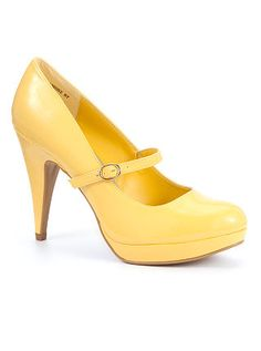 must have yellow mary jane pumps!