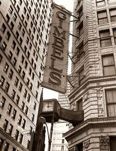 Once upon a time, there was Gimbels Department Store in Downtown Pittsburgh, Pennsylvania Pittsburgh City, Pittsburgh Neighborhoods, Pittsburgh Penguins, Pittsburgh Steelers, Keystone State, Philadelphia Pa, Philadelphia History, My Kind Of Town, Greek