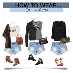 """How To Wear - Denim shorts"" by bjelanovic-ana ❤ liked on Polyvore featuring moda, GUESS, Carmakoma, Balenciaga, Sandra Magsamen, IRO, Gabriele Frantzen, Yves Saint Laurent, Emilio Pucci y Proenza Schouler"