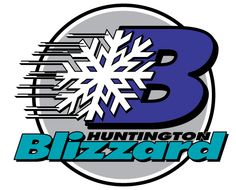 Huntington Blizzard Primary Logo - A purple B with snowflake on a grey circle with team name in teal Hockey Logos, Ice Hockey Teams, Sports Team Logos, Sports Teams, Soccer, Logo Branding, Branding Design, Logo Design, Team Mascots