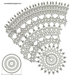 FREE DIAGRAM ~ Crochet Doily