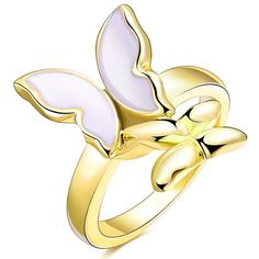 3.11$  Buy now - http://diyvp.justgood.pw/go.php?t=199165606 - Polished Resin Butterfly Ring 3.11$