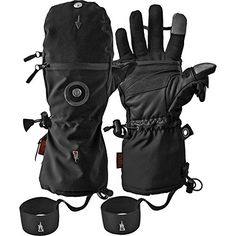 "Heat 3 Smart Gloves (Black) Large Size 10 (9""-9.5"") Heat"
