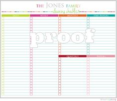 Personalized Cleaning Checklist Printable by IHeartOrganizing, $3.00
