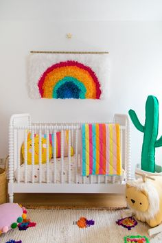 This kind of girls room ikea is certainly a notable style technique. Rainbow Nursery Decor, Bright Nursery, Nursery Neutral, Baby Bedroom, Nursery Room, Girl Nursery, Girl Room, Fantasy Bedroom, Ikea