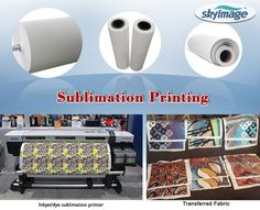 Application of Non-crul 58gsm fast dry sublimation paper