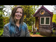 (58) WOMAN lives in a TINY HOUSE so She Can TRAVEL the World - YouTube