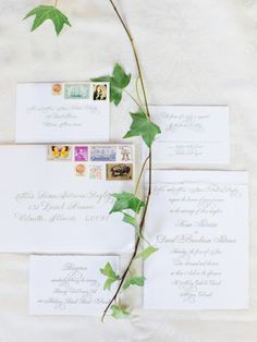 Wedding Invitations with Vintage Stamps | photography by http://kateholstein.com/