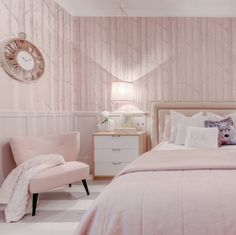 Pink Bedroom By Portuguese Designer Ana Antunes Room Decor Walls Clean