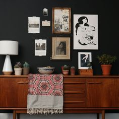 Mid Century Sideboard Styling.
