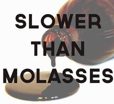 Image result for slow as molasses meme
