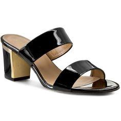Șlapi SAGAN - 2522  Czarny Lakier Złoty Shoes, Fashion, Moda, Zapatos, Shoes Outlet, Fashion Styles, Shoe, Footwear, Fashion Illustrations