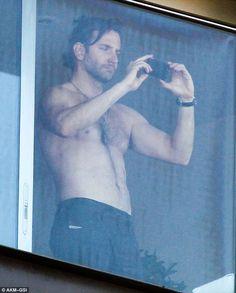 Going shirtless: Bradley Cooper