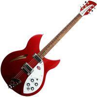 Rickenbacker Guitar, Piano, Semi Acoustic Guitar, John Lenon, Guitar Reviews, Guitar Room, Playing Guitar, Ruby Red, Rock N Roll