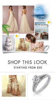 """""""Beach wedding"""" by jordanbirnie ❤ liked on Polyvore featuring Bling Jewelry"""